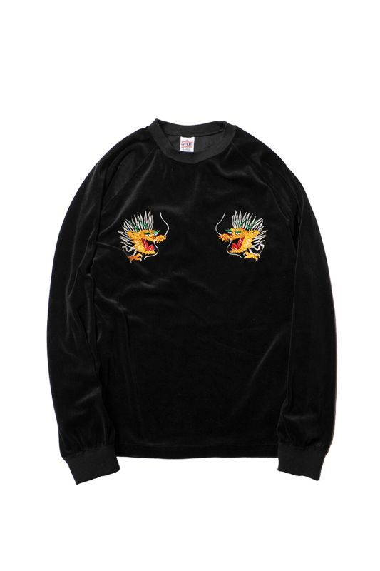 画像1: 【CUTRATE】L/S EMBROIDERY VELOUR T-SHIRT (1)