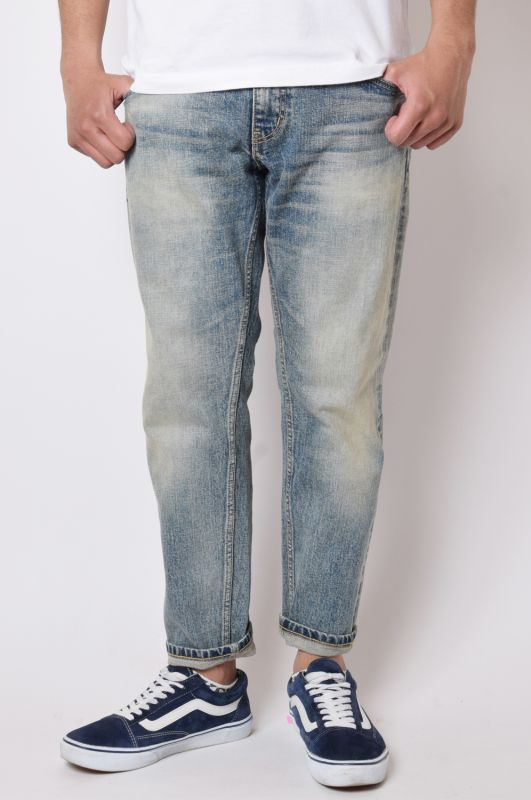 画像1: 【Back Channel】USED CROPPED DENIM (1)