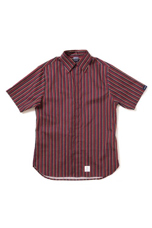 画像1: 【APPLEBUM】Stripe Fly Front SS Shirt (1)