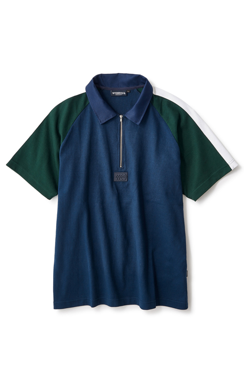 画像1: 【INTERBREED】 Switching SS Rugby Shirt (1)