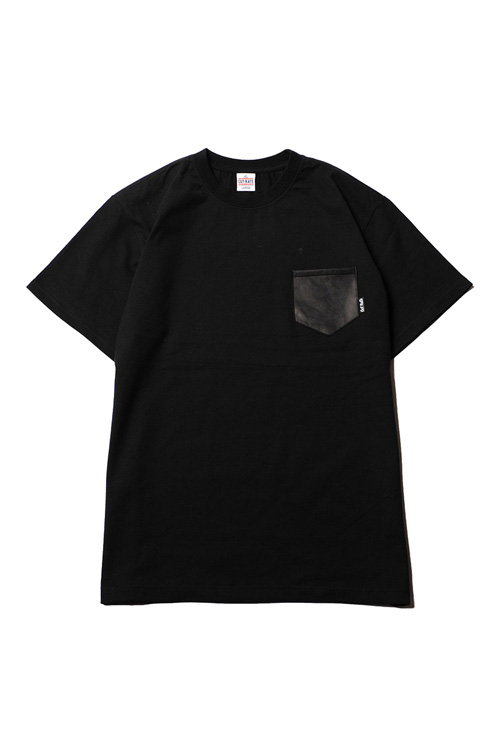 画像1: 【CUTRATE】LOCAL CROSS LEATHER POKET T-SHIRT (1)