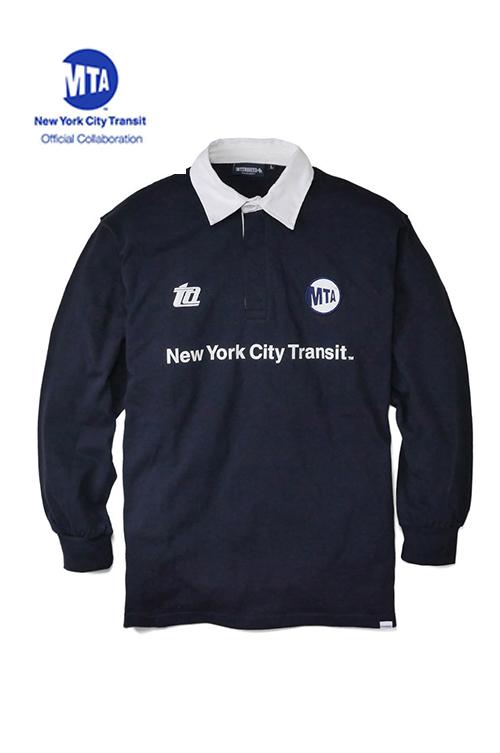 """画像1: 【INTERBREED】 MTA × INTERBREED """"Subway History Rugby Shirt (1)"""