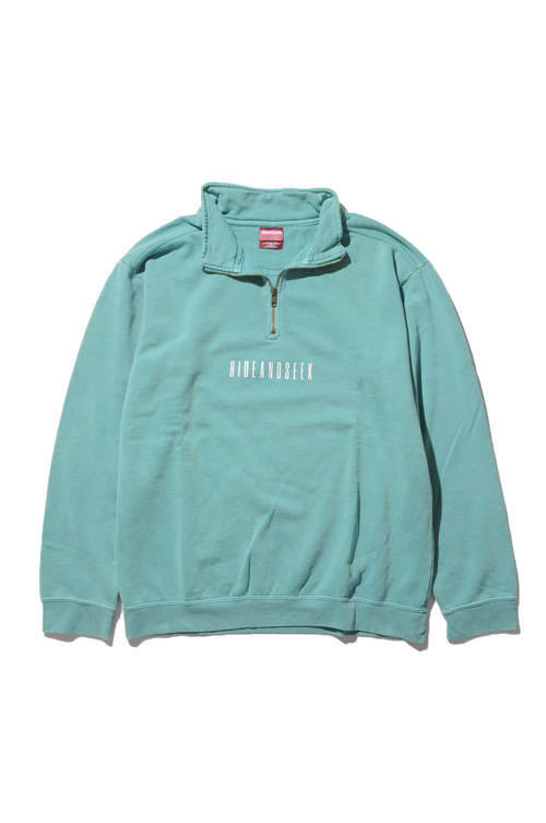 画像1: 【HIDEANDSEEK】Box Half Zip Sweat (1)