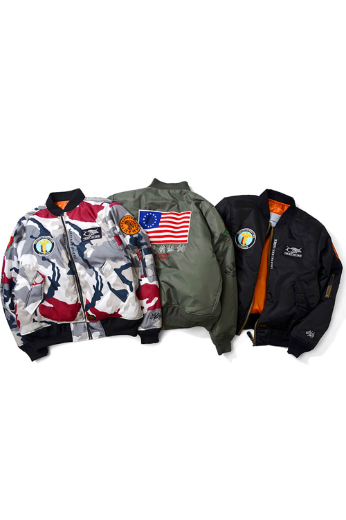 画像1: 【LAFAYETTE】 OLD GLORY ALLOVER PATCH FLIGHT JACKET (1)