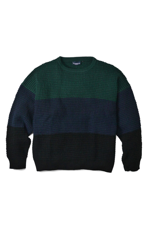 画像1: 【INTERBREED】 Wool Mixed Waffle Knit (1)