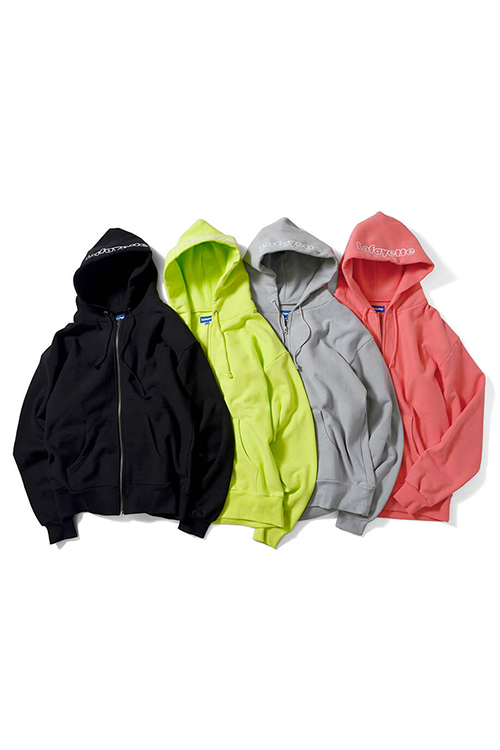 画像1: 【LAFAYETTE】 OUTLINE LOGO US COTTON ZIP PARKA SWEATSHIRT (1)