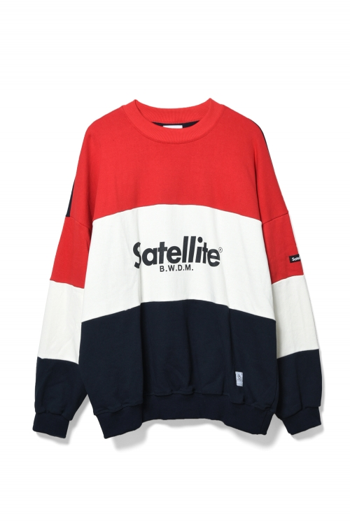 画像1: 【SATELLITE】BIG LOGO MIX PILE CREW SWEAT (1)