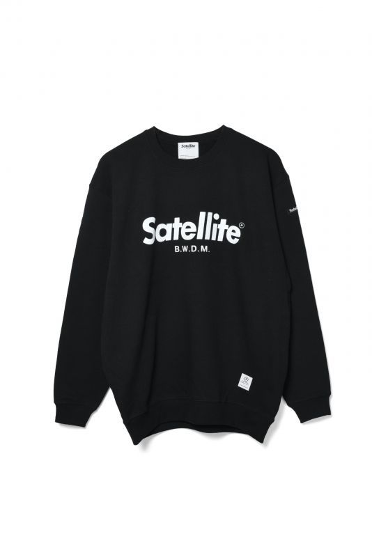 画像1: 【SATELLITE】BIG LOGO_PILE CREW SWEAT (1)