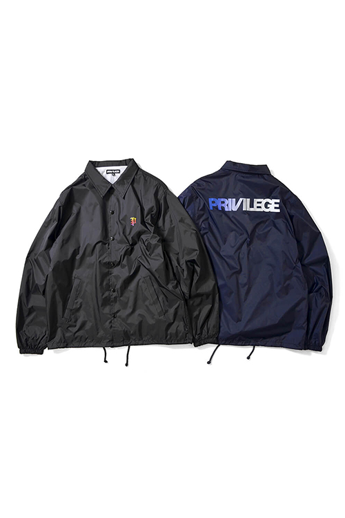 画像1: 【PRIVILEGE】 GRADATION P LOGO COACH JKT (1)