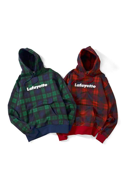 画像1: 【LAFAYETTE】 Lafayette LOGO PLAID PULLOVER SWEATSHIRT (1)