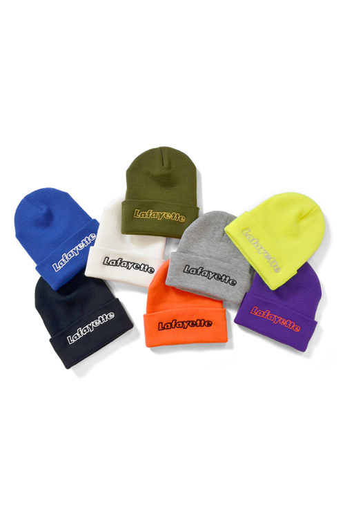 画像1: 【LAFAYETTE】 OUTLINE HUGE LOGO KNIT CAP (1)