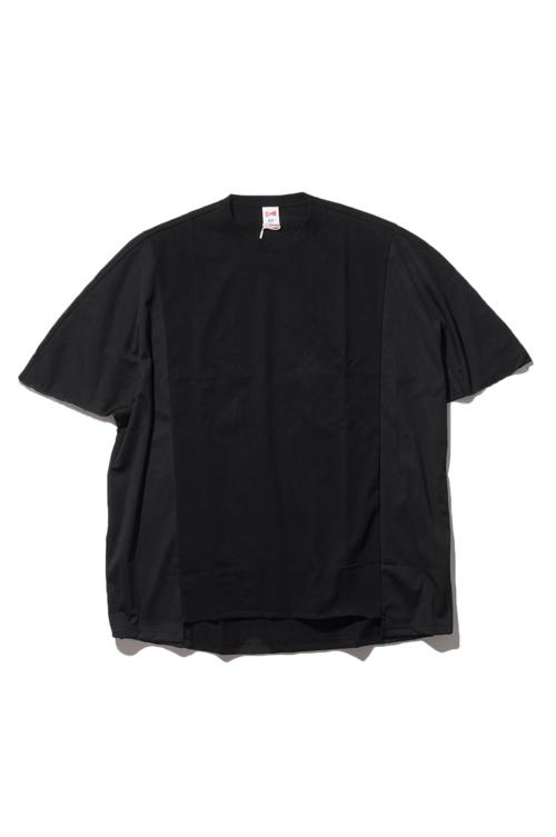画像1: 【VOTE MAKE NEW CLOTHES】SIDE MESH DROP TEE (1)