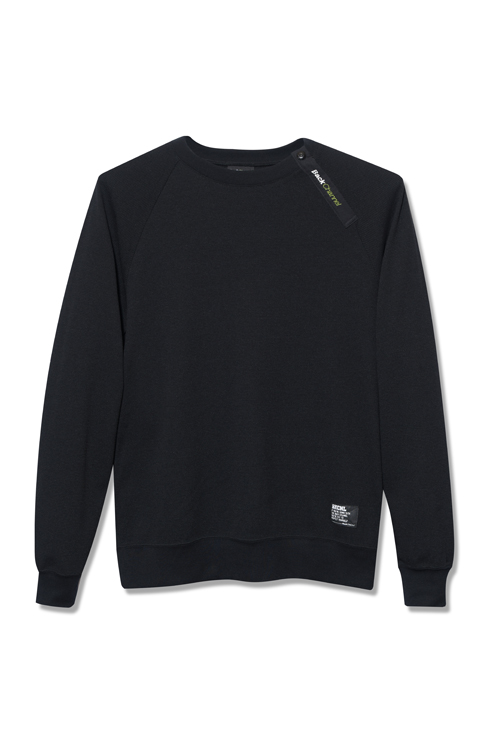 画像1: 【Back Channel】COOLMAX THERMAL ZIP SWEAT (1)