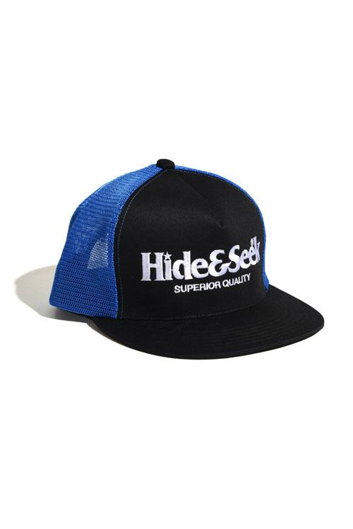 画像1: 【HIDEANDSEEK】Logo 2Tone Mesh CAP (1)
