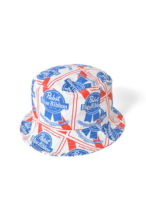画像1: 【LAFAYETTE】 Lafayette x PABST BLUE RIBBON - ALLOVER BUCKET HAT (1)