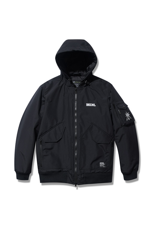 画像1: 【Back Channel】NYLON 3LAYER HOODED JACKET (1)