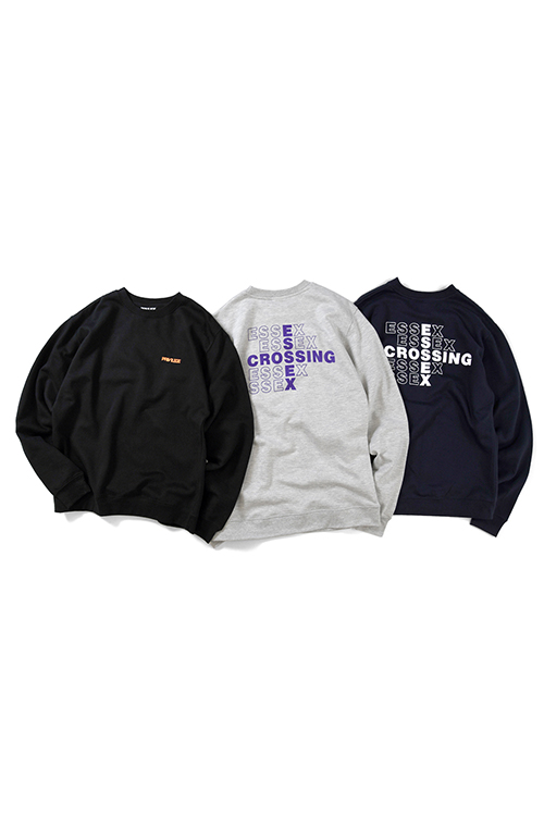 画像1: 【PRIVILEGE】 ESSEX CROSSING CREWNECK SWEATSHIRT (1)