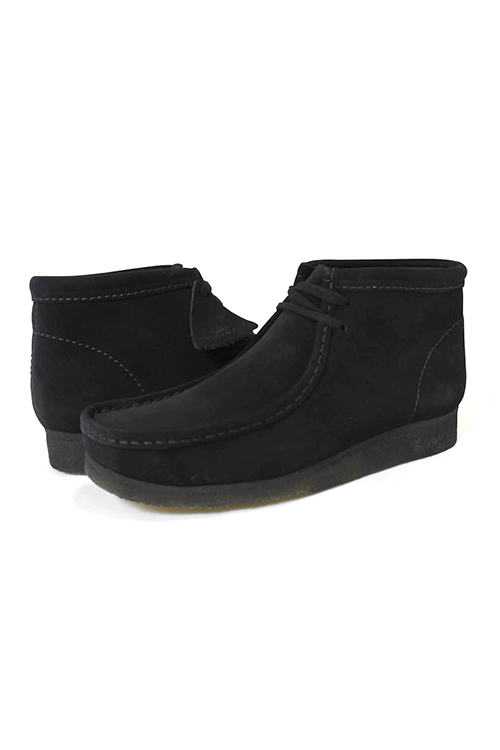 画像1: 【CLARKS ORIGINALS】WALLABEE BOOT BLACK SUEDE (1)