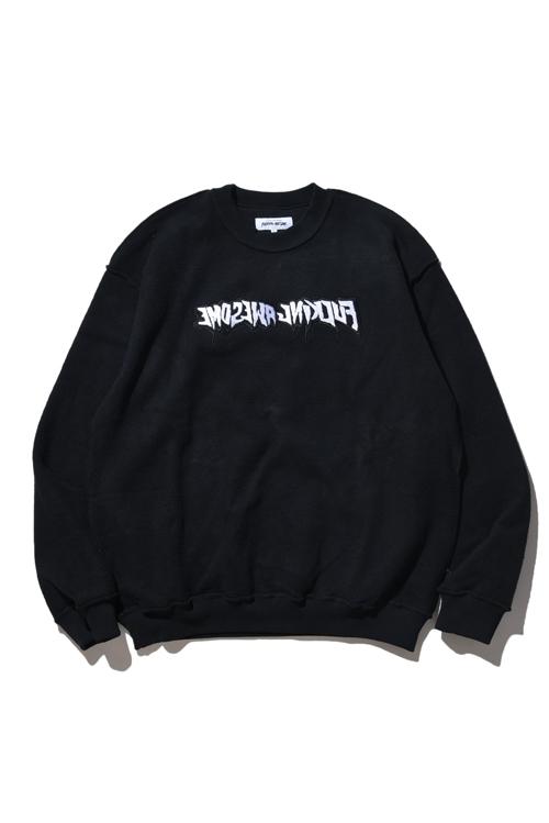 画像1: 【FUCKINGAWESOME】 Reversible Empty Drip Crewneck Sweatshirt (1)