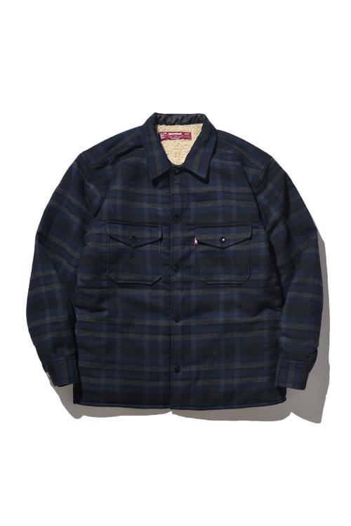 画像1: 【HIDEANDSEEK】Boa Check CPO Shirt Jacket (1)
