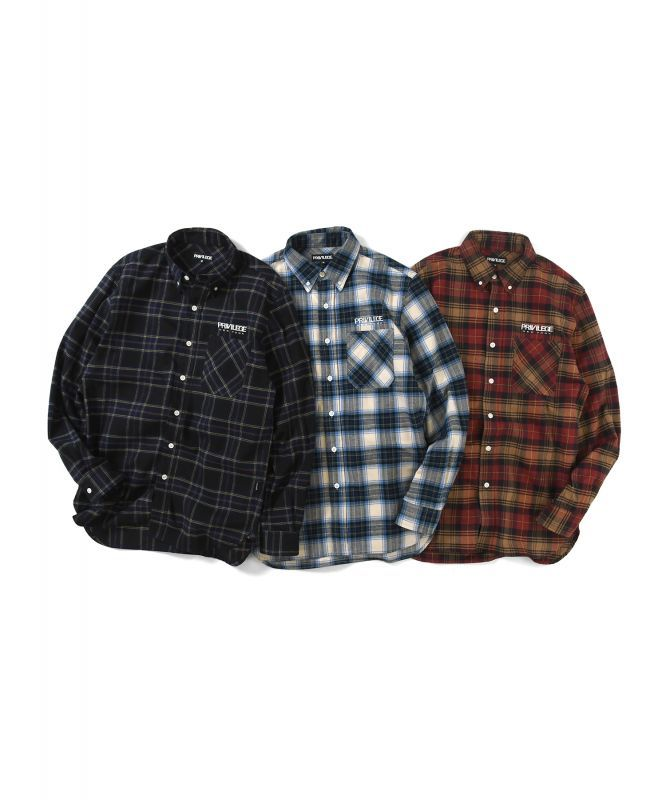 画像1: PRIVILEGE / PLAID FLANNEL SHIRT (1)