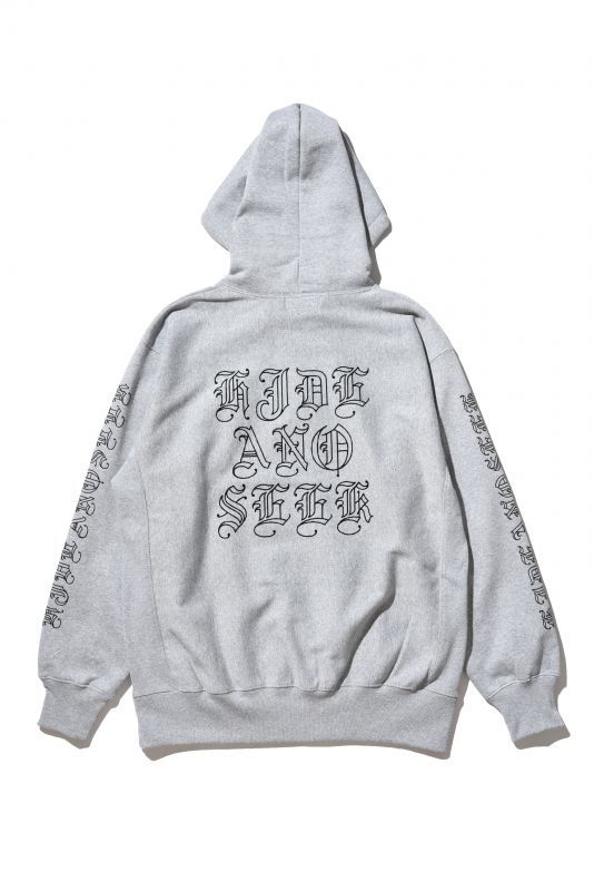 画像1: HIDEANDSEEK / Letter Hooded Sweat Shirt (1)
