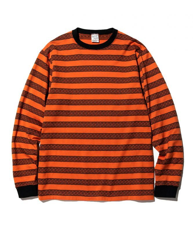 画像1: CALEE / L/S Jacquard border t-shirt (1)
