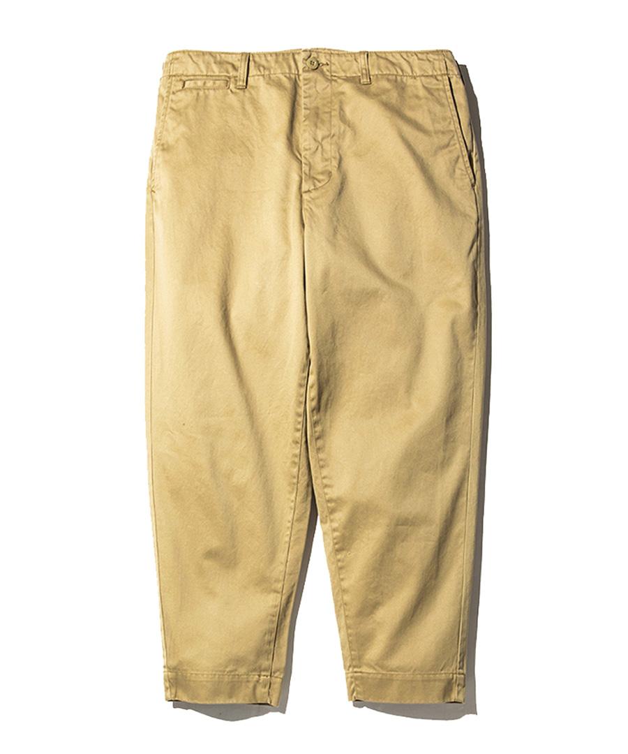 画像1: CALEE / West point wide chino pants -BEIGE- (1)