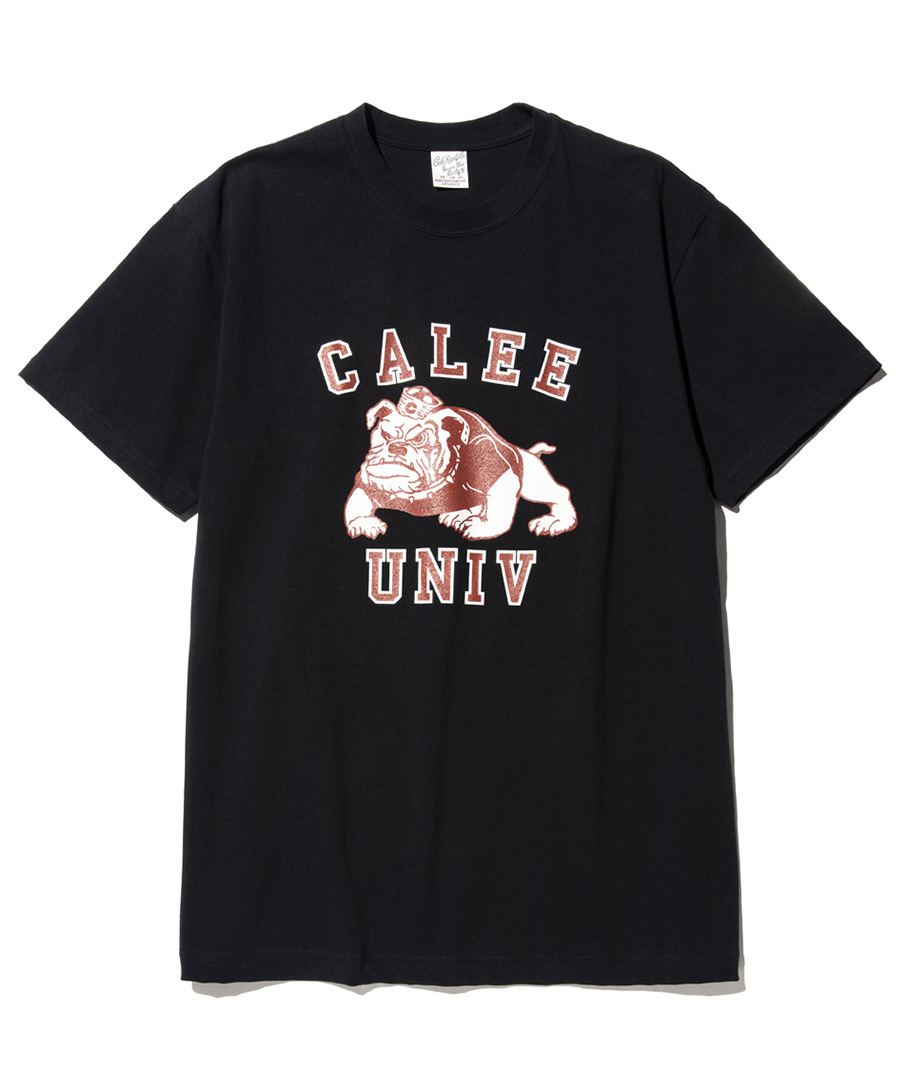 画像1: CALEE / Bull dog t-shirt -BLACK- (1)