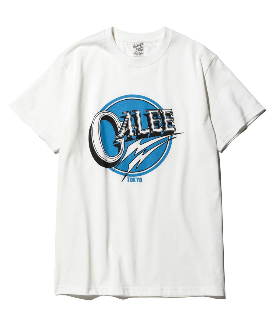 画像1: CALEE / Calee logo t-shirt -WHITE- (1)