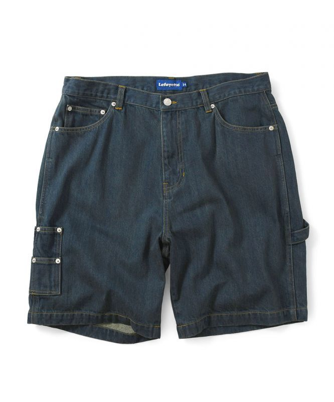 画像1: LAFAYETTE / DENIM PAINTER SHORTS (1)