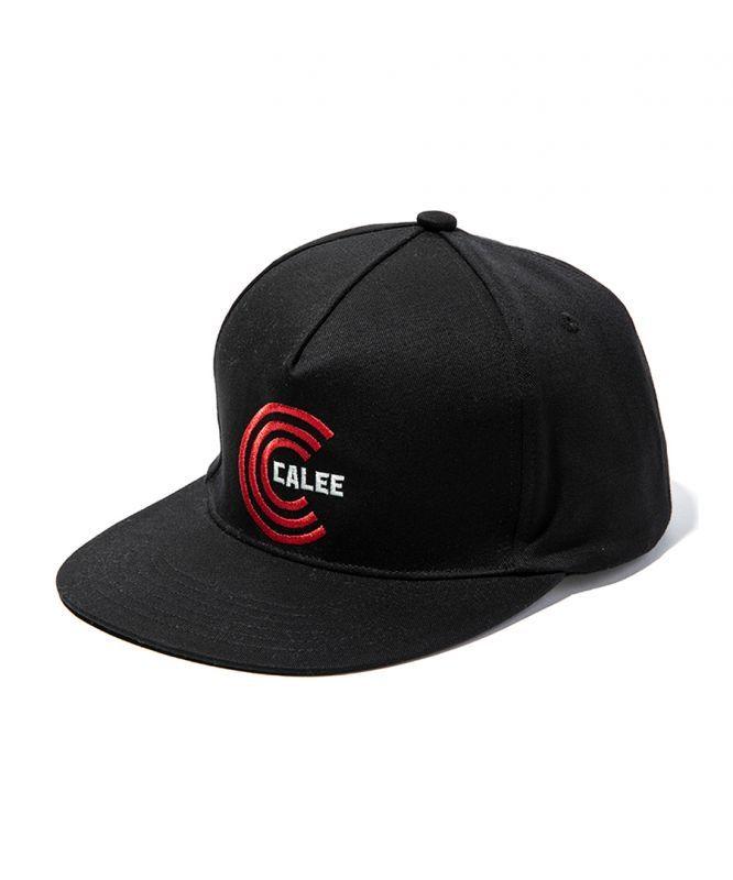 画像1: CALEE / Twill embroidery cap -BLACK- (1)