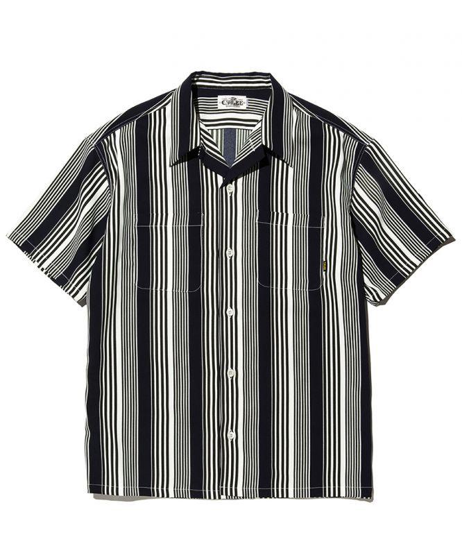 画像1: CALEE / S/S stripe shirt -NAVY- (1)