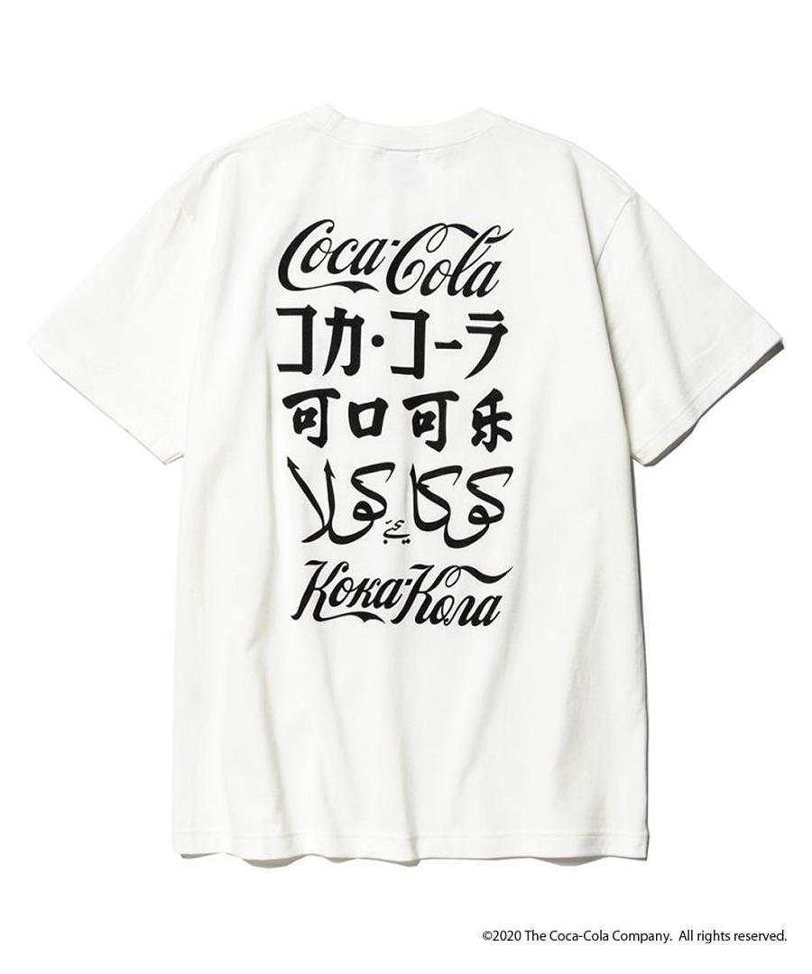 画像1: CALEE / COCA-COLA collaboration international logo t-shirt -WHITE- (1)
