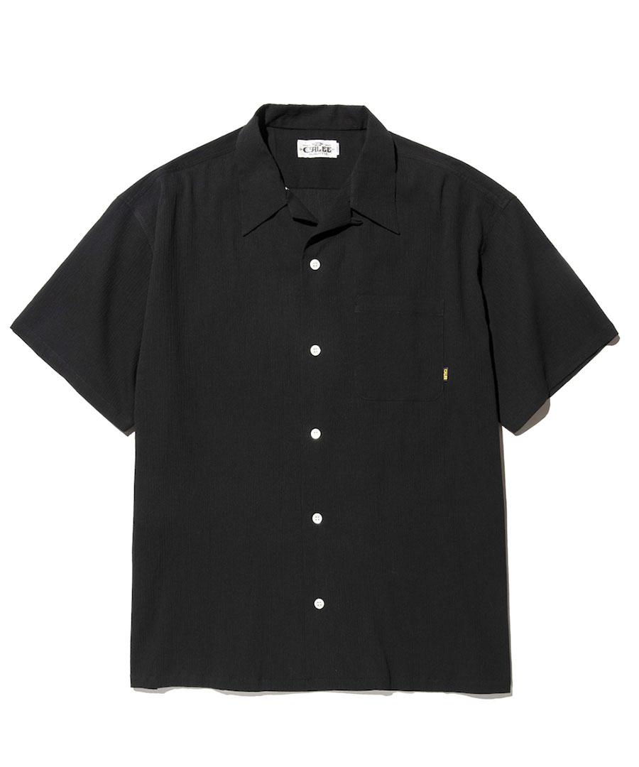 画像1: CALEE / Japan traditional embroidery S/S shirt -BLACK- (1)
