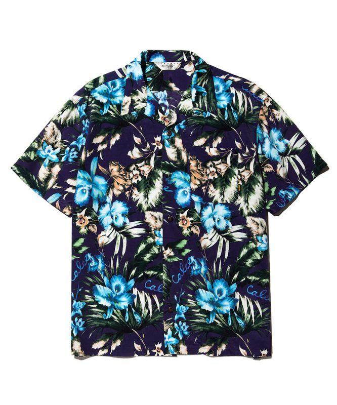画像1: CALEE / Hawaiian S/S shirt -NAVY- (1)