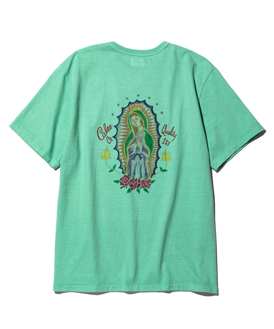 画像1: CALEE / Binder neck Maria t-shirt -EMERALD GREEN- (1)