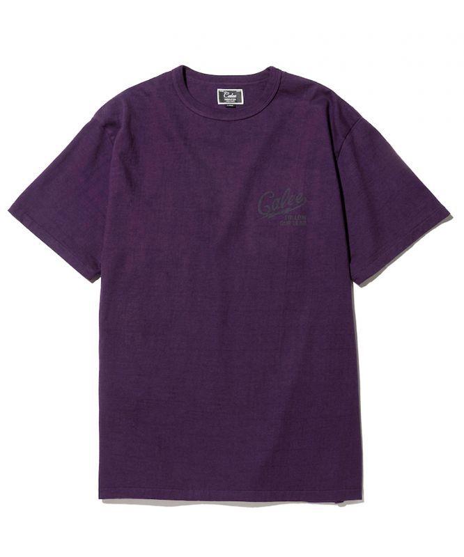 画像1: CALEE / Binder neck color t-shirt -PURPLE- (1)