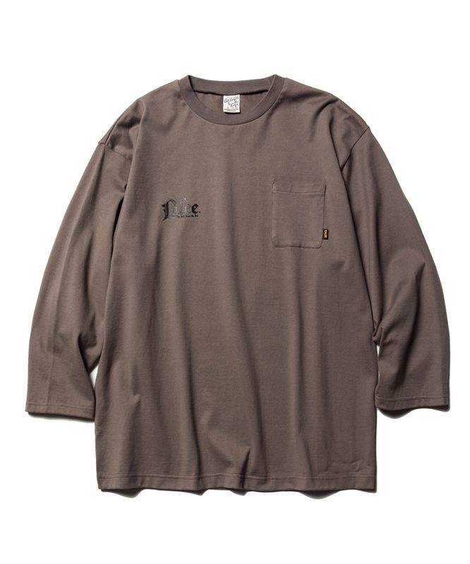 画像1: CALEE / 3/4 Sleeve set in pocket t-shirt -GRAY- (1)