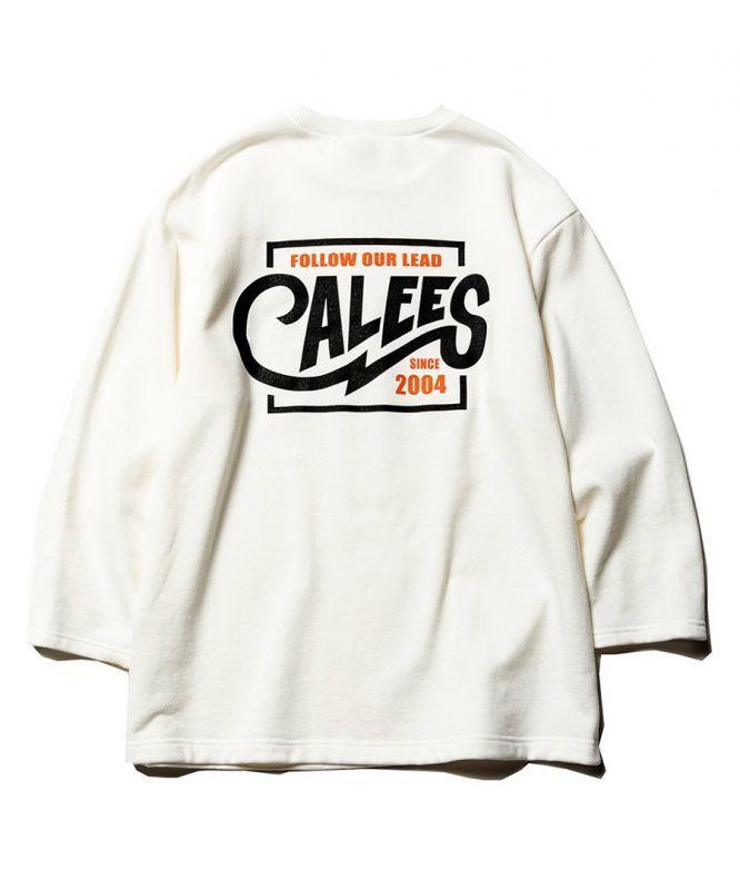 画像1: CALEE / 3/4 Set in sleeve sweat -WHITE- (1)