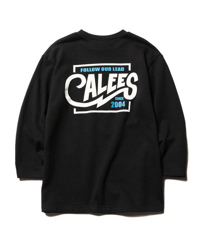 画像1: CALEE / 3/4 Set in sleeve sweat -BLACK- (1)