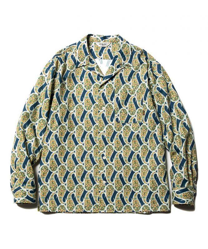 画像1: CALEE / Allover paisley pattern L/S shirt -NAVY- (1)