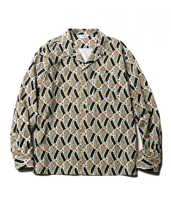 画像1: CALEE / Allover paisley pattern L/S shirt -BLACK- (1)