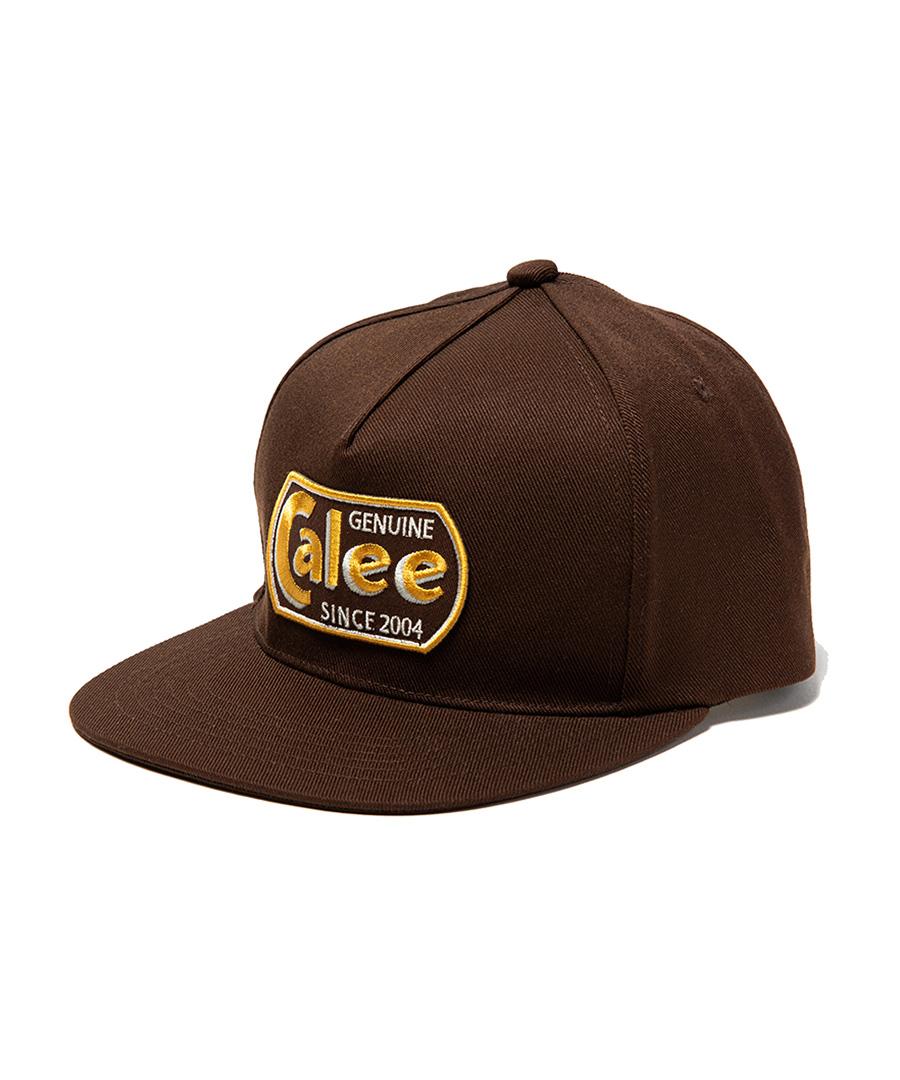 画像1: CALEE / T/C Twill logo wappen cap -BROWN- (1)