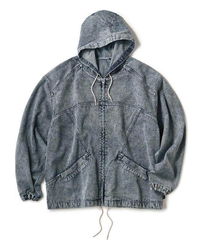 画像1: INTERBREED / Acid Washed Hood Jacket (1)
