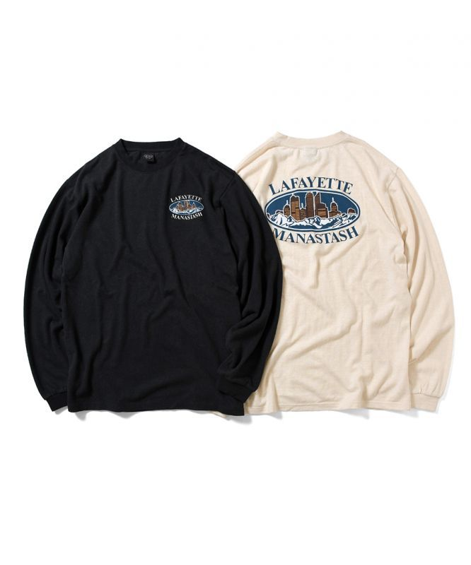 画像1: LFYT / MANASTASH x LFYT MOUNTAIN RIDGE CITY SCAPE L/S TEE (1)