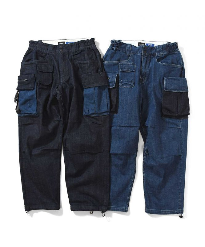 画像1: LFYT X LAKH / 10 POCKETS DENIM PANTS (1)